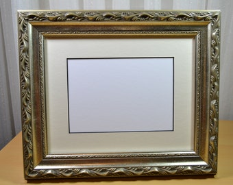 Silver Picture Frame with Antique Finish - Ornate Photo Frame - Wood Picture Frame