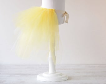 Skirt/tail yellow tulle girls costume