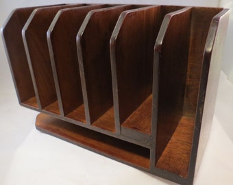 Nice 1930s Hardwood Desk Organizer - Perfect for the Country Desk or Mission/Craftsman Decor