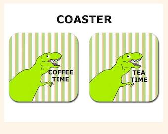 Dinosaur Coaster-Coffee Coaster-Tea Coaster-Dinosaur-Gag Gift-Coaster-Gift for Him-Gift for Her