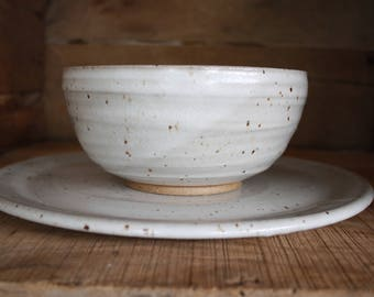 Dinner Plate and Salad Bowl - Dinnerware Set - Handmade - Made to Order - Ceramics and Pottery - KJ Pottery