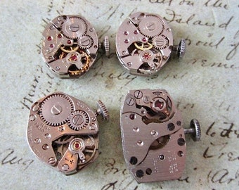 Featured - Steampunk supplies - Watch movements - Vintage Antique Watch movements Steampunk - Scrapbooking b76