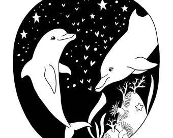 Dolphins - Digital Print