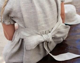 Girls Linen dress Peasant dress Baby dress Summer dress Dress for Girl Baby dress Custom sizes