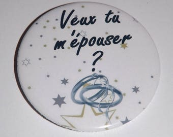 want 1 magnet 58 mm, you me marry, original marriage proposal