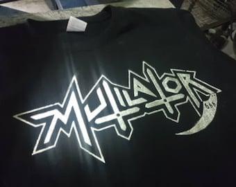 Nieuwe MUTILATOR - LOGO T shirt - S tot XXL, Chakal, Sarcofaco, Holocausto, Sepultura, Anthares.
