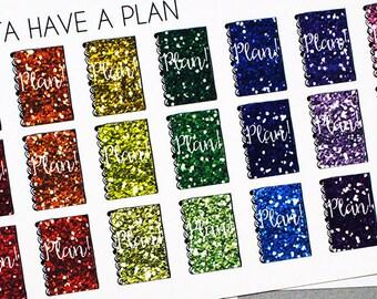 "Planner Stickers ""Glitter"" Planners for Erin Condren, Happy Planner, Filofax, Scrapbooking"