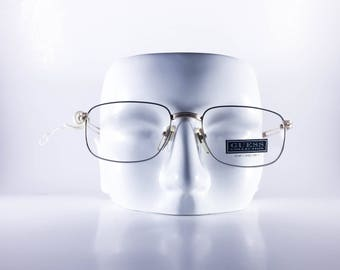 Guess Vintage Eyeglasses  GU4011 SI/YG 52-19-140 Made in Italy Unisex Metal NOS Deadstock - GueF453Y-1