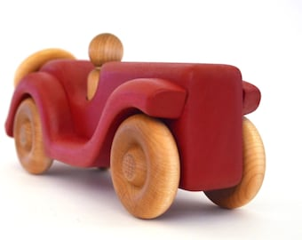 Wooden Car Toy - Pick Any Color - Personalized Toy Car - Christmas Gift
