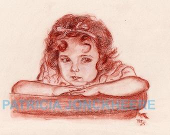 Shirley Temple - Blood Portrait