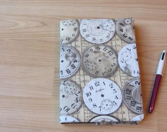 Journal with reversible Tim Holtz fabric cover. With Seawhite hardback sketchbook. A5. notebook, art journal, memory book