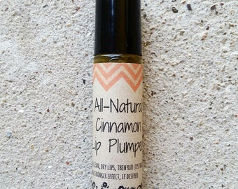 New, Improved Formula! All-Natural Moisturizing + Nourishing Cinnamon Lip Plumper