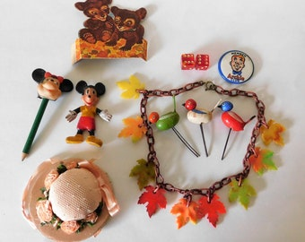 Junk Drawer Lot Toys Collectibles Mickey Mouse