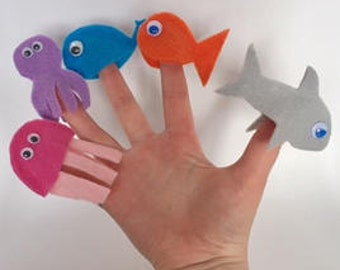 Under the Sea Finger Puppets, Childrens Activity Box, Busy Box, Busy Box Shop, Child, Activity