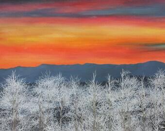 Art print of Frosty Sunset 18x13