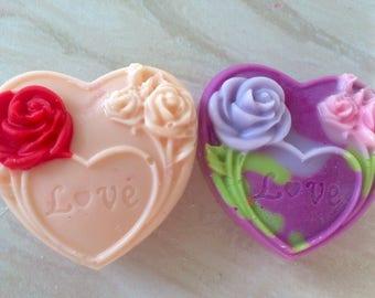 Enchanted rose heart wax melts!