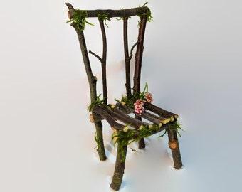 Fairy Chair - Fairy House, Faery Chair, Dollhouse, Fairy Garden, Fairy Furniture, Fairy Accessories, Faery Furniture, Fae, Gift, Fairy Seat