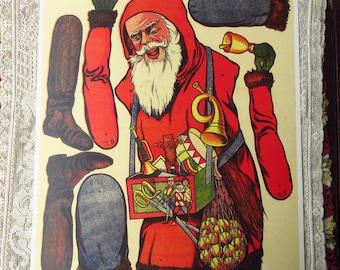 Germany Reprint Circa 1905 Santa Claus Jumping Jack Jumbo Sheet