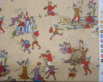 Queen of the Fairies tan Faye Burgos Marcus fabrics FQ or more