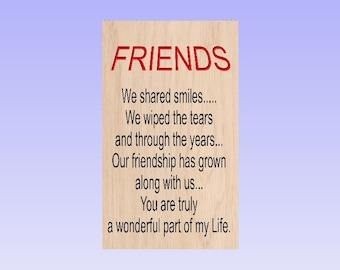 Friendship sign, Family signs, wooden friendship sign, Best friends, Wooden best friendship signs, Cedar friends signs, Customize friendship
