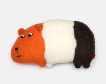 Gertrude the Guinea Pig Knitted Lambswool Soft Toy Plush