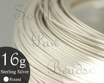 4 feet Round Sterling Silver Wire 16 gauge dead soft approximately 1/2 troy oz