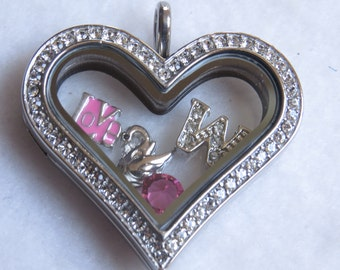 Large Floating Heart Pendant Only