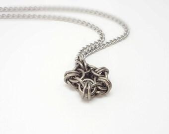 Star Pentagram Pendant Unique Chainmaille Necklace