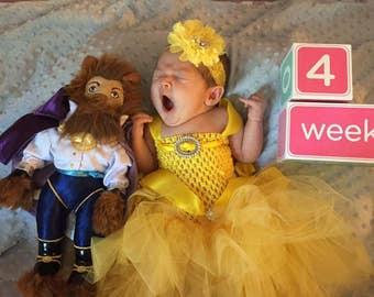 Disney Princess / Baby Halloween Costume / Toddler Halloween Costume / Belle Costume / Belle Dress / Belle Dress/ Princess Belle/