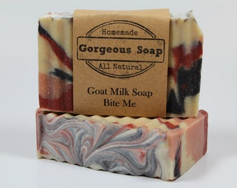 Bite Me Goat Milk Soap - All Natural Soap, Handmade Soap, Homemade Soap, Handcrafted Soap