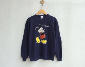 Vintage Blue Mickey Mouse Sweatshirt Nice Design