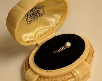 Vintage Art Deco 1930s Celluloid Ring Presentation Box