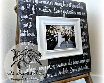 Personalized Bridesmaid Gift, Will You Be My Bridesmaid, She Is Your Mirror, 16x16 The Sugared Plums Frames