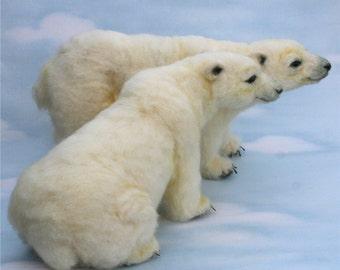 2013 TOBY Award Alpaca Needle Felted Artic Polar Bear OOAK Artist Bear Choice of sit or stand