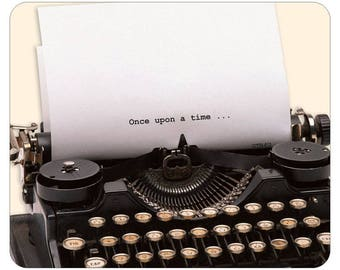 Valentine gift Idea, Special mouse pad for typewriter lovers