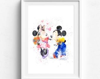 Mickey mouse print, mickey mouse art, disney print, mickey mouse poster, mickey print, mickey mouse decor, mickey poster, disney art print