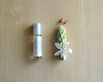 Mandarin Lily Perfume Oil, Roll On Scent Citrus Floral Fragrance Essential Oil