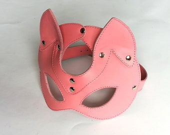 BDSM CAT MASK. Genuine Leather Cat's Mask. Pet Play.