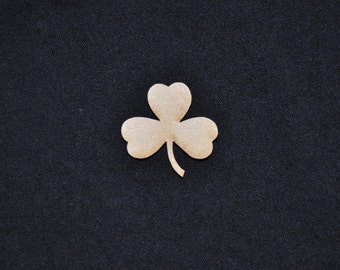 Shamrock, Clover, Laser Cut Out for Decoupage, DYI, Unfinished, Cute, Hair Bow Embellishments  by LiahonaLaser on Etsy