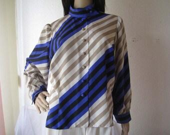 Vintage 60s silk Blouse silk blouse unique S/meter