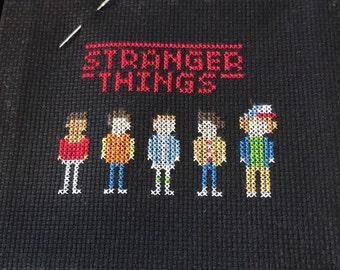 stranger things inspired cross stitch