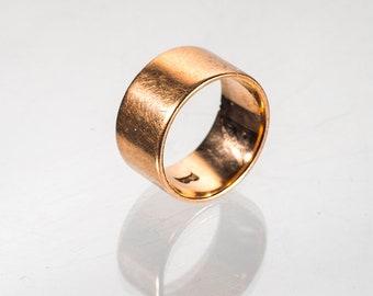 wide 10k rose gold band