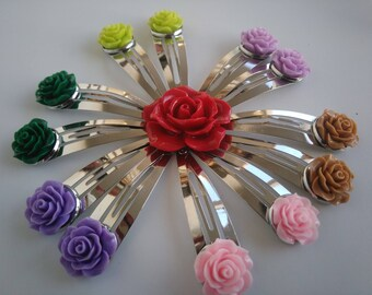 Collection of hair clips: pink - choose from several colors