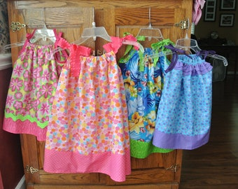 End of Season Sale on In Stock Pillowcase Dresses of Little Girls, Toddler, and infants
