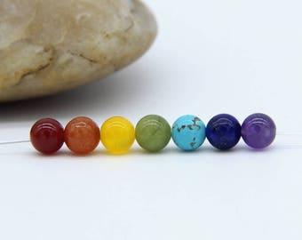 Chakra Beads 6mm 7 Chakra Beads Set Chakra Beads 7 Chakra Gemstones Chakra Mala Beads Chakra Jewelry Supplies Meditation Gemstone Supplies