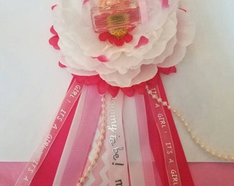 Baby shower corsage set for mom and dad/baby shower mum/mommy to be corsage/girl mommy to be corsage/