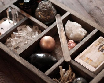 6 Compartment Box for Tarot, Crystals or Essential Oils