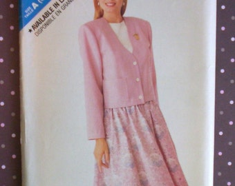 Vintage 1980s Sewing Pattern - Butterick 3082 - Misses' Jacket And Skirt (Size 6-8-10-12-14) - Sewing Supplies