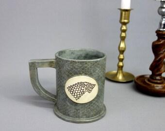 House Stark Ceramic Mug in Gray