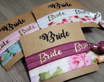 Bride Wedding Favor | Bride Hair Tie Favor | Bachelorette Party Favors | Bachelorette Hair Tie Favors
